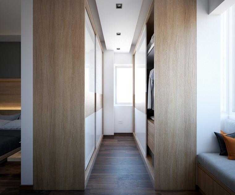 pasillo vestidor puertas madera