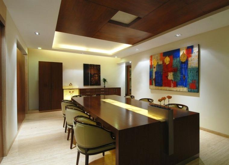 zz architects mesa madera piedra diseno comedor ideas
