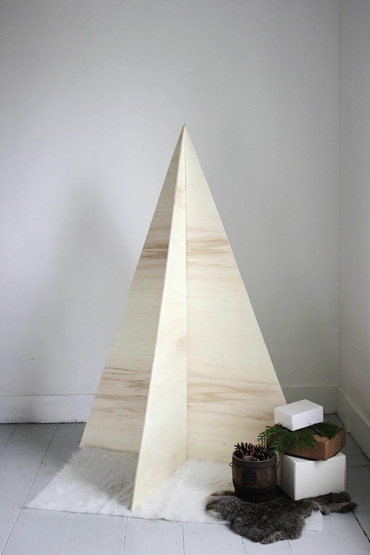 abeto navidad pirámide madera