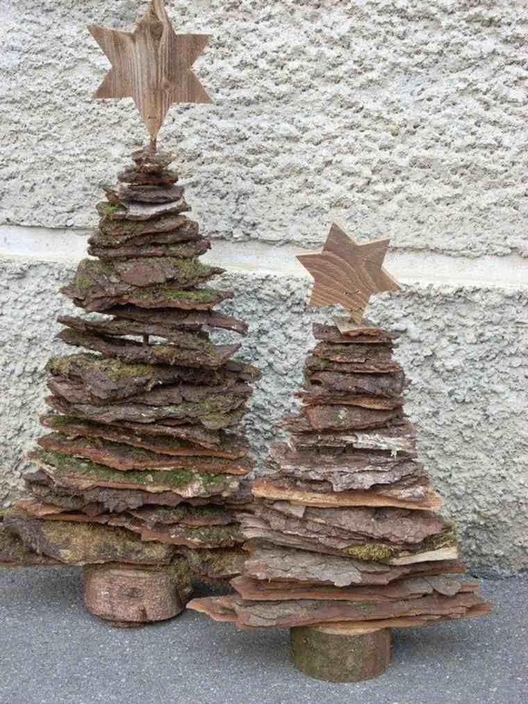 árboles navidad cortezas pino
