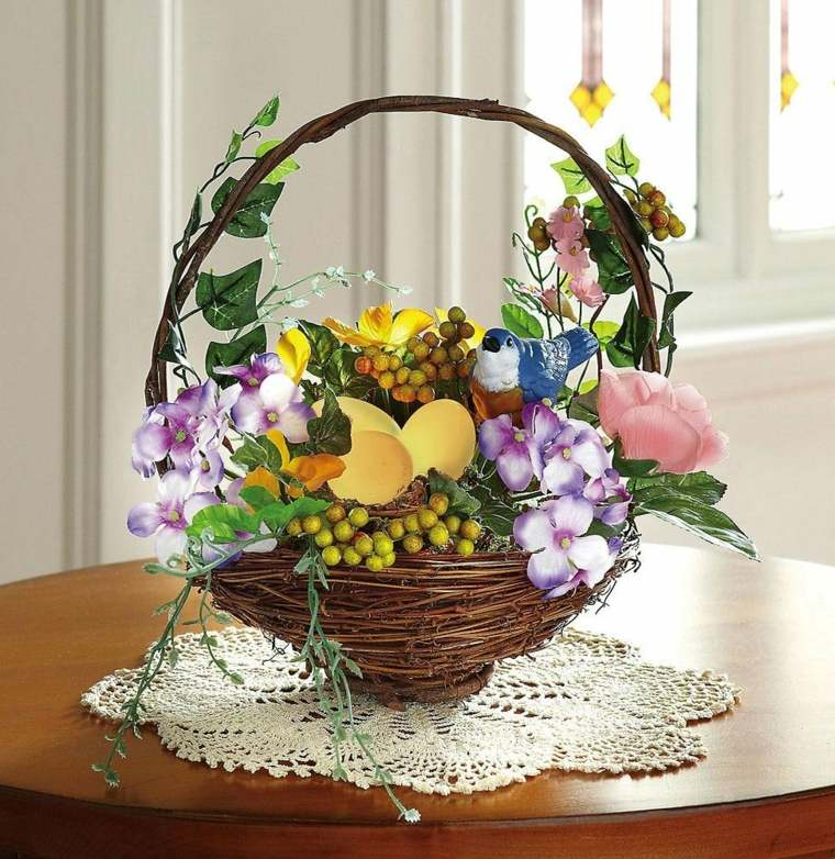adornos con flores artificiales
