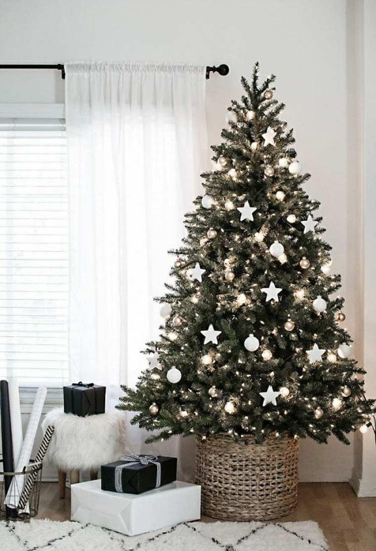adornos navidad blancos estrellas blancas ideas