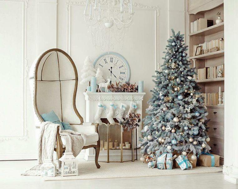 adornos navidad blancos opciones decoracion navidena ideas
