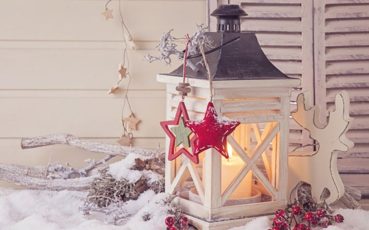 adornos navidenos originales jardin farola blanca ideas