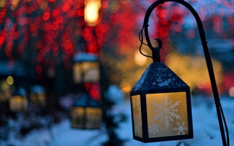 adornos navidenos originales jardin linternas modernas ideas
