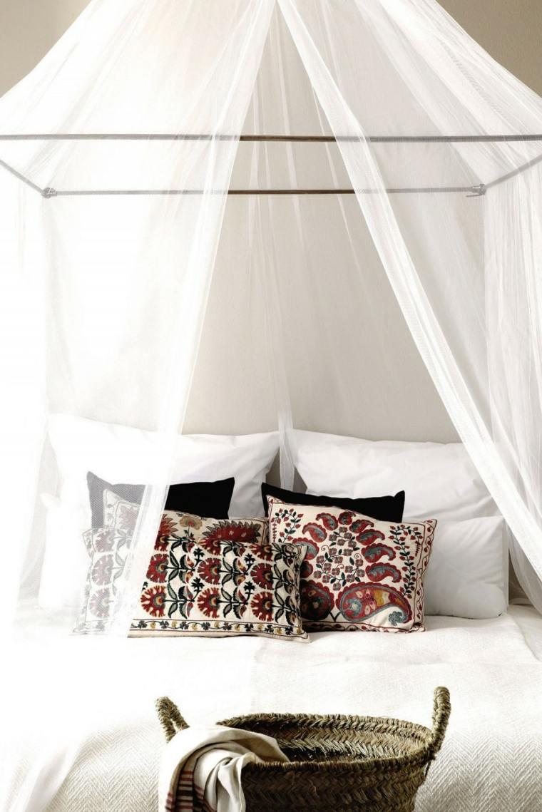 almohadas dormitorio diseno toques bohemios ideas