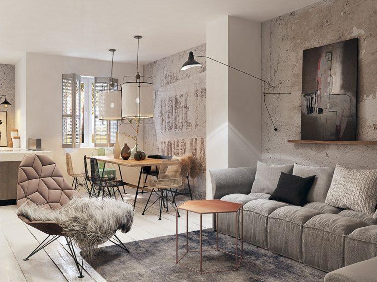 apartamento pequeño estilo industrial
