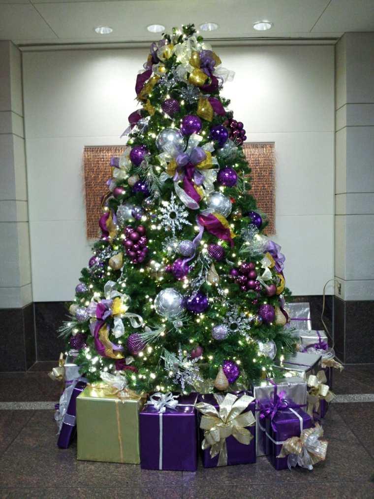 rbol de navidad decorado morado