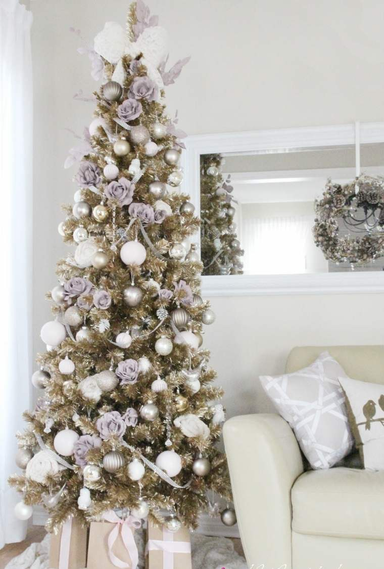 Rboles de navidad decorados ideas interesantes - Arbol navideno blanco decorado ...