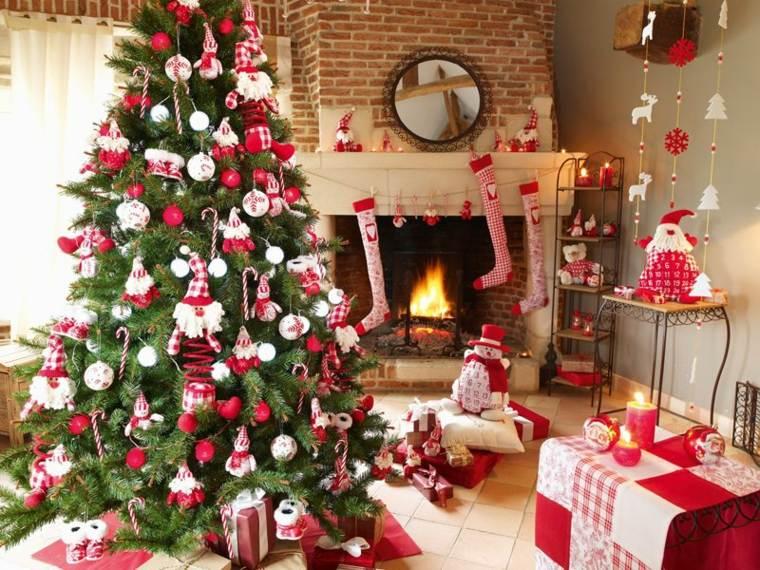 árboles de navidad decorados casa
