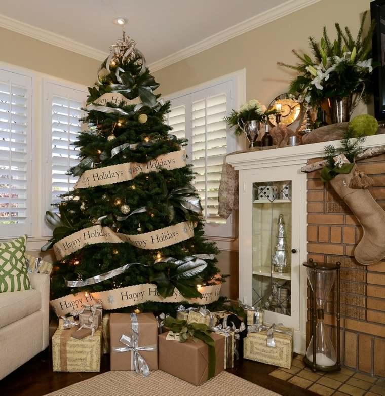 árboles de navidad decorados casas