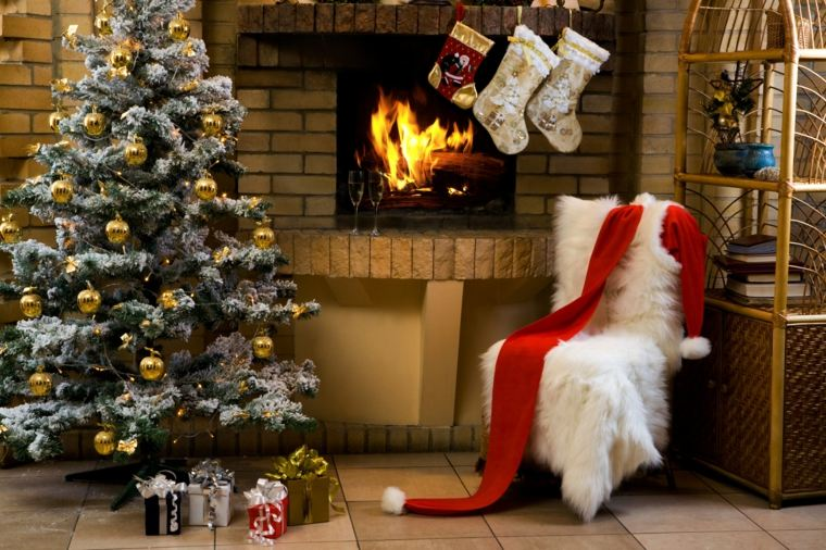 rboles de navidad decorados interior