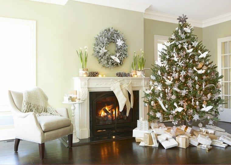 rboles de navidad decorados interiores casas