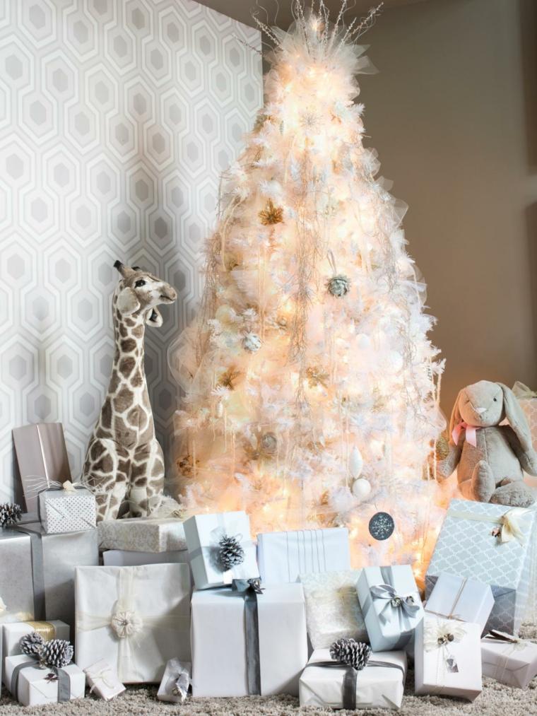 árboles de navidad decorados sala de estar
