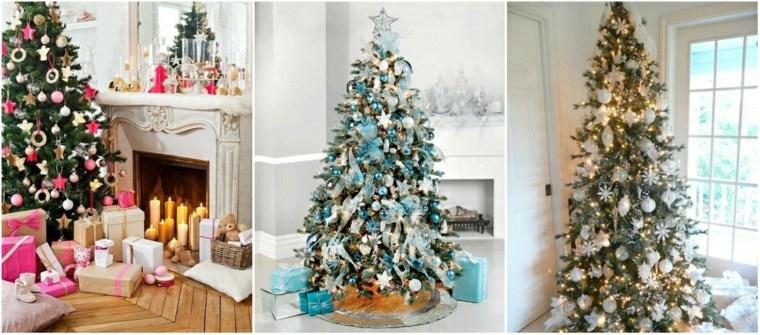 árboles de navidad decorados salón