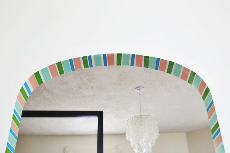 arco pared decorado colores