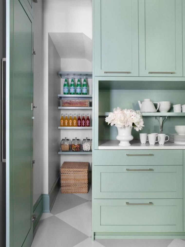 Despensas de cocina para ganar espacio - Cucina nascosta ...