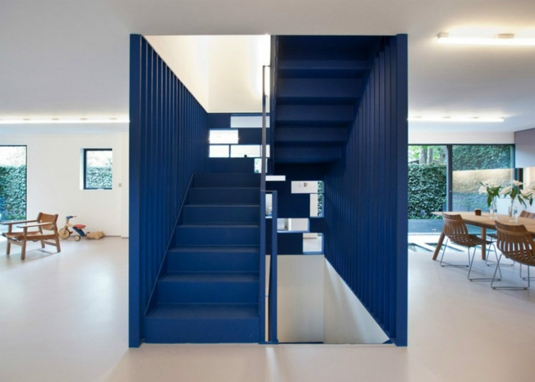 arquitectura escaleras azules diseno ra projects ideas