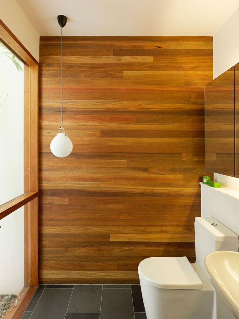 aseo moderno pared paneles madera
