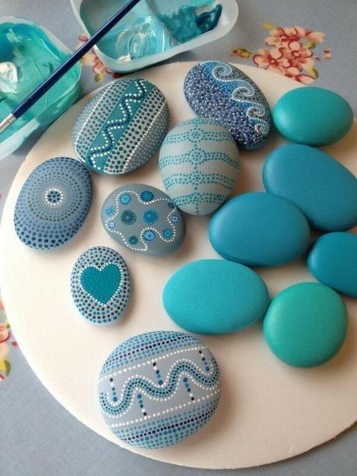 azules detalles centro mesa salones