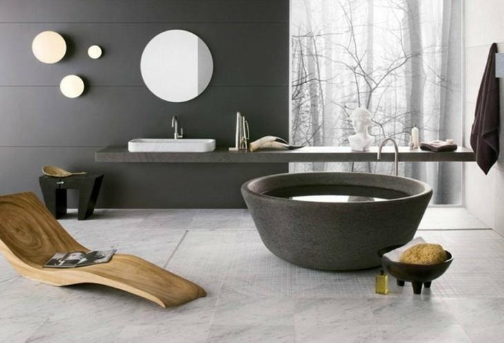 banadera ovalada muebles madera circulares