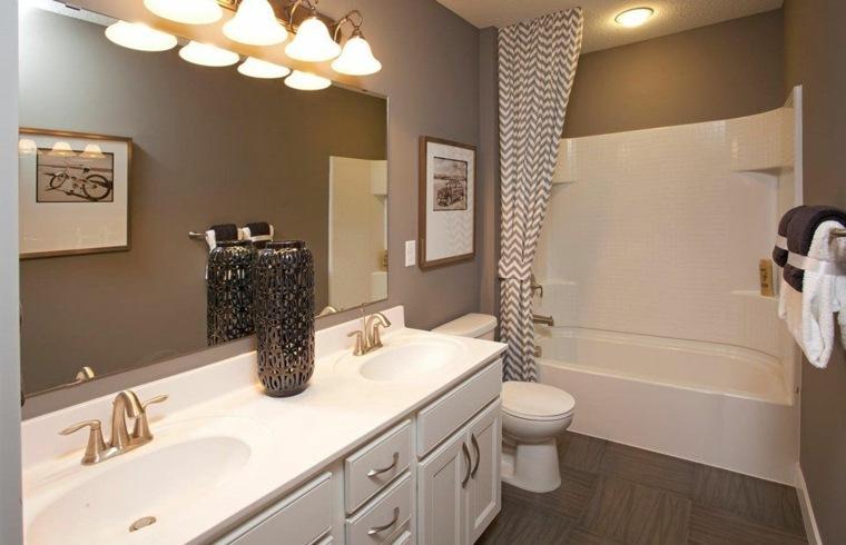 Ba o peque o 38 ambientes ntimos y modernos Diseno lavabos pequenos