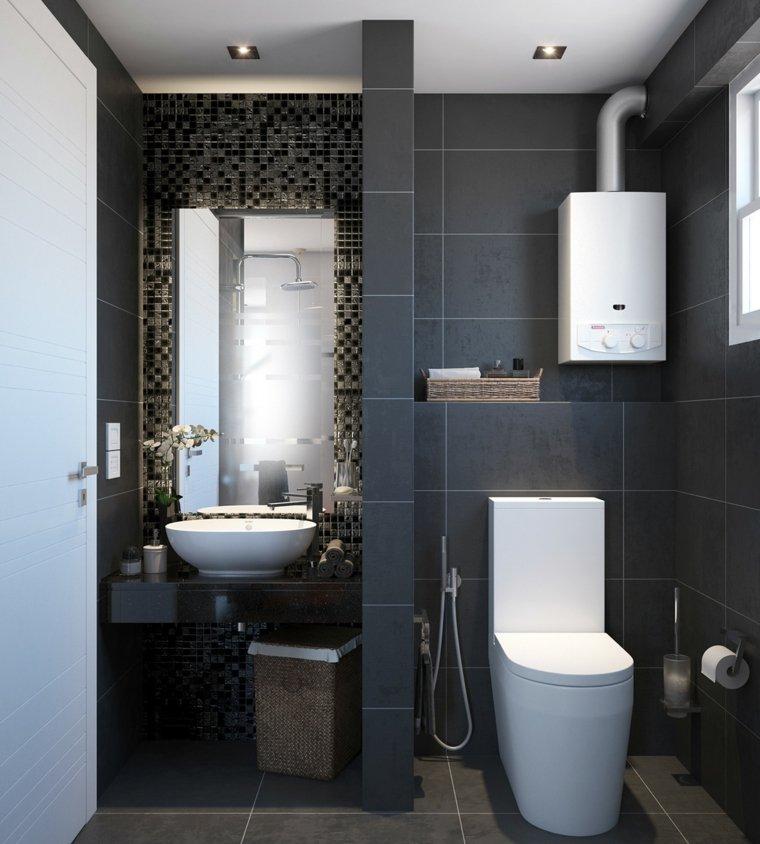 Ba o peque o 38 ambientes ntimos y modernos - Losas de bano ...