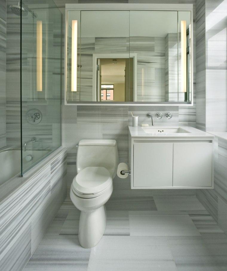 Ba o peque o 38 ambientes ntimos y modernos for Banos marmol y madera