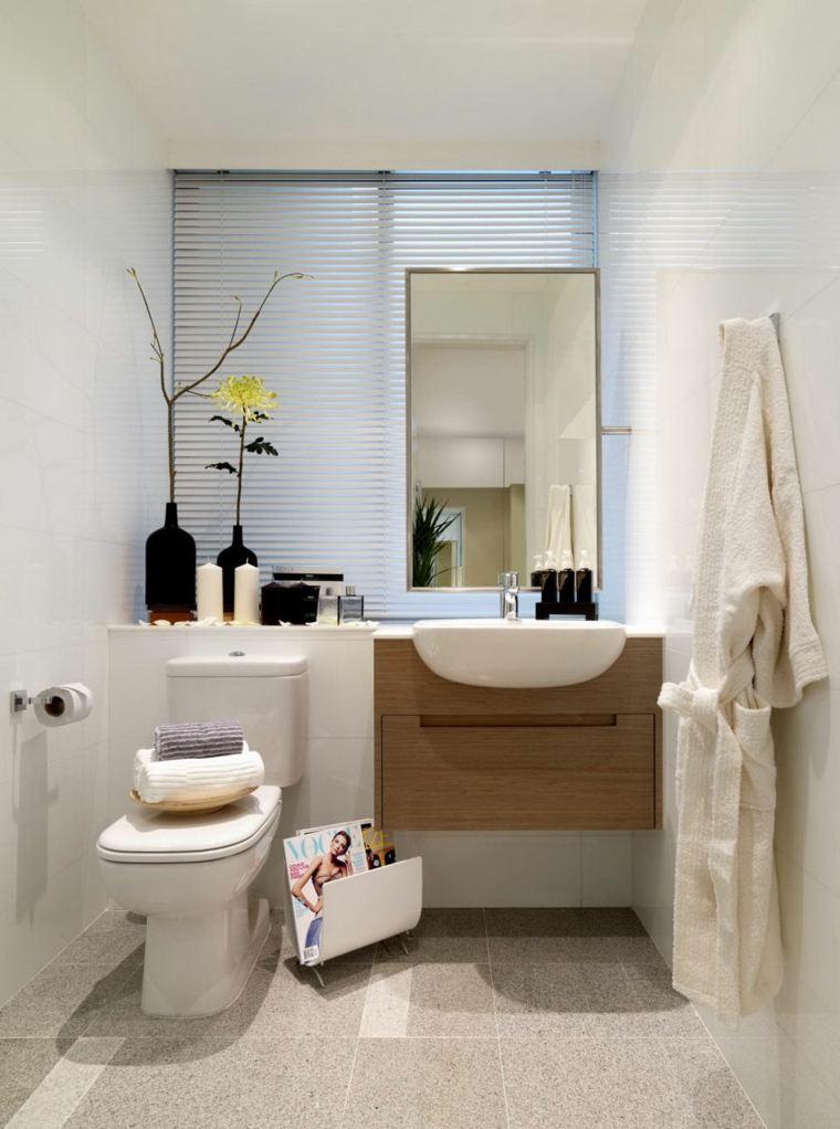 bano pequeno lavabo flotante