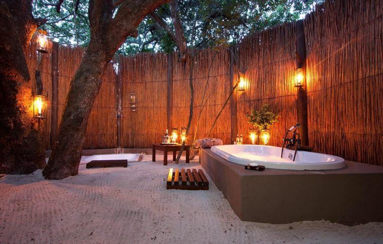 Iluminacion Baño Rustico:Baños rústicos modernos para el interior y el exterior -