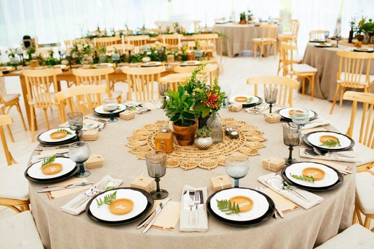 banquete decoracion vintage boda diseno ideas