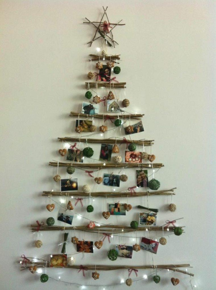barras madera abeto Navidad falso