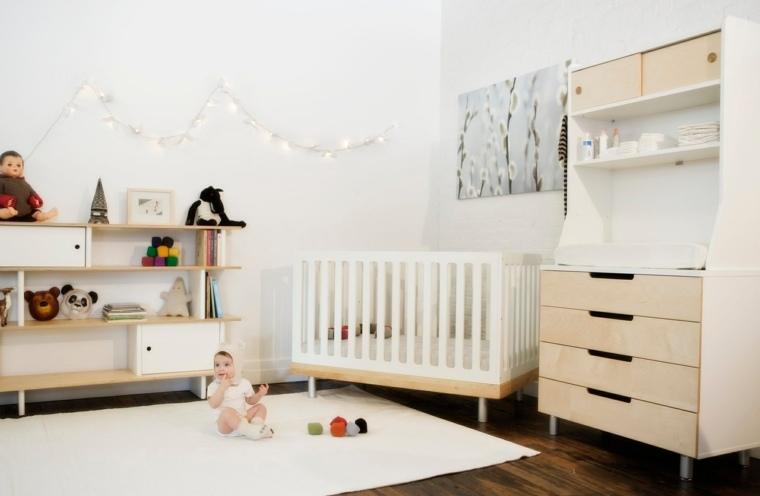 habitación bebé estilo minimalista