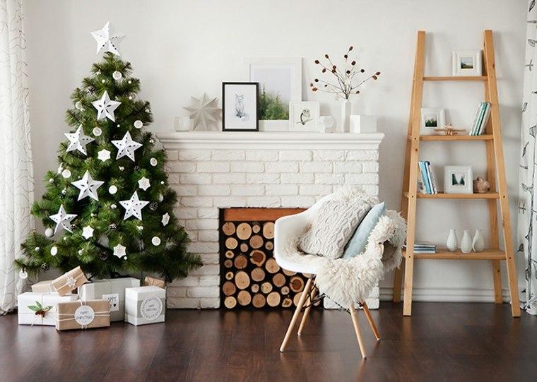 blanca navidad decoracion moderna adornos blancos arbol ideas - Decoracion Moderna