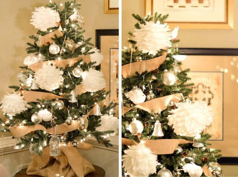 blanca navidad decoracion moderna adornos papel grandes ideas