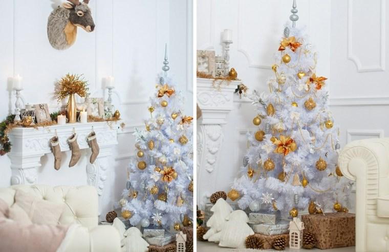 blanca navidad decoracion moderna arbol blanco ideas