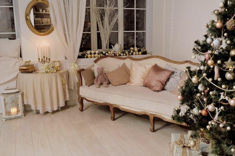 blanca navidad decoracion moderna arbol navidad ideas