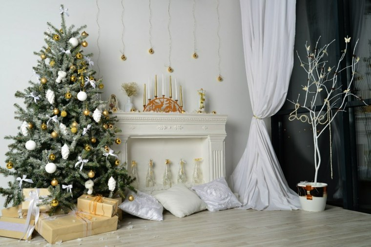 blanca navidad decoracion moderna diseno blanco ideas