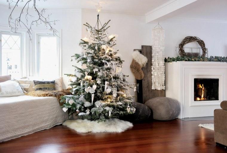 blanca navidad decoracion moderna inspiradora salon ideas