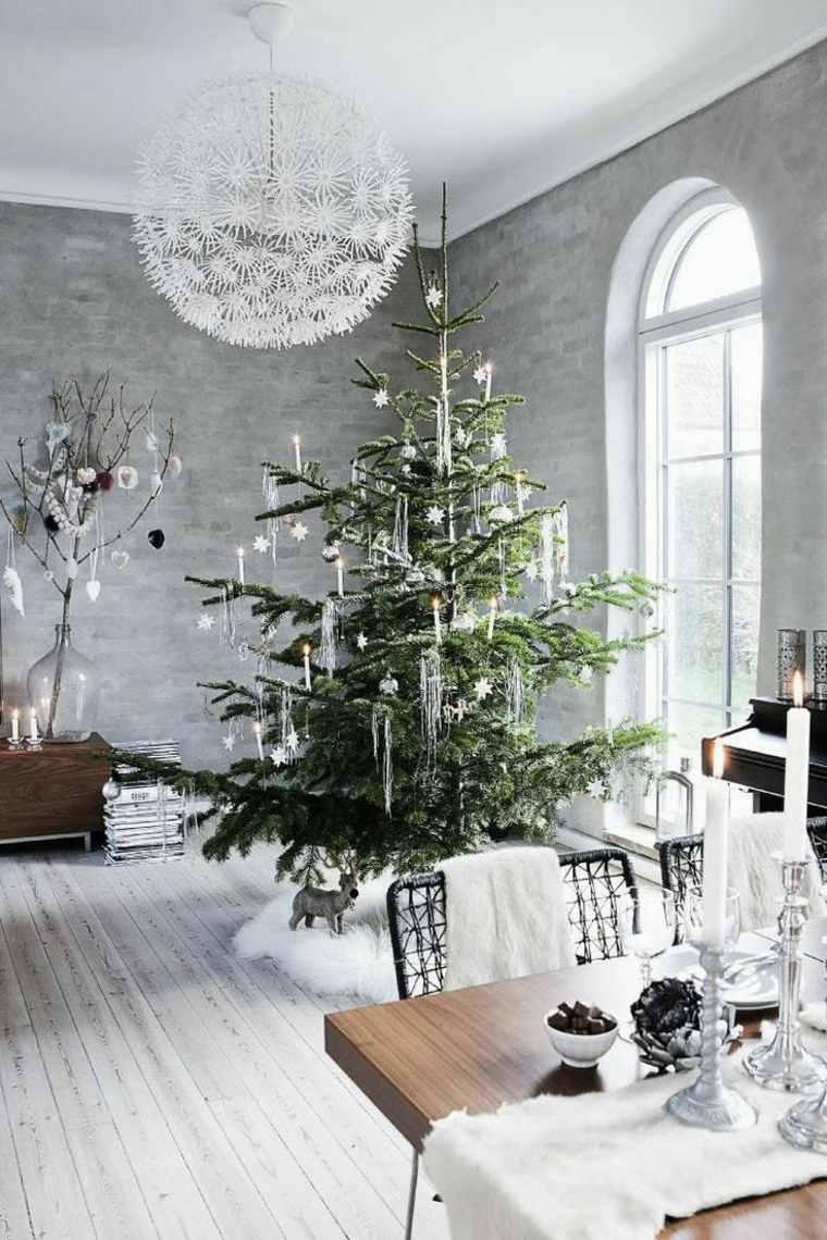 blanca navidad decoracion moderna isnpiradora comedor ideas