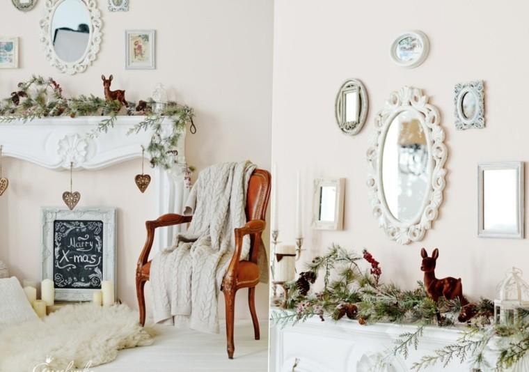 blanca navidad decoracion moderna marcos blancos ideas