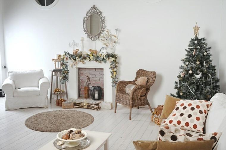 blanca navidad decoracion moderna salon bonito ideas