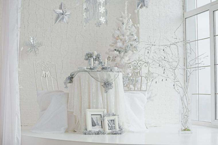 blanca navidad decoracion moderna todo blanco ideas