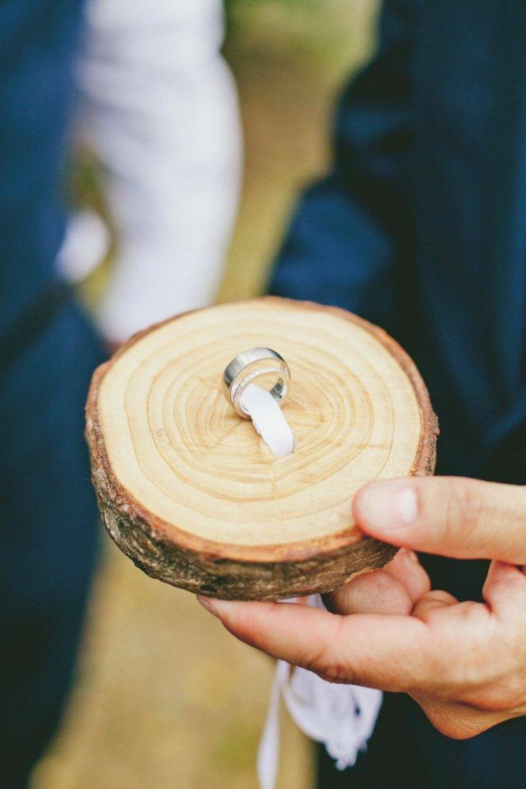bodas vintage decoracion original opciones anillos boda madera ideas