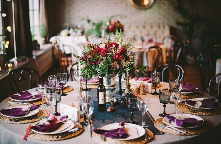 bodas vintage decoracion original ramo flores centro mesa ideas