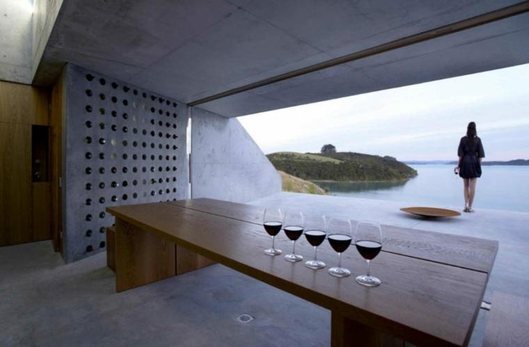 bodegas concreto paredes especiales mesas