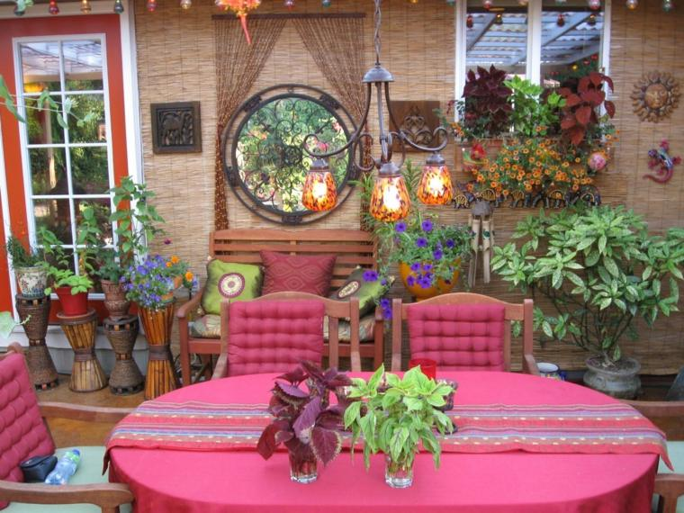 bohemio chic decoración terraza