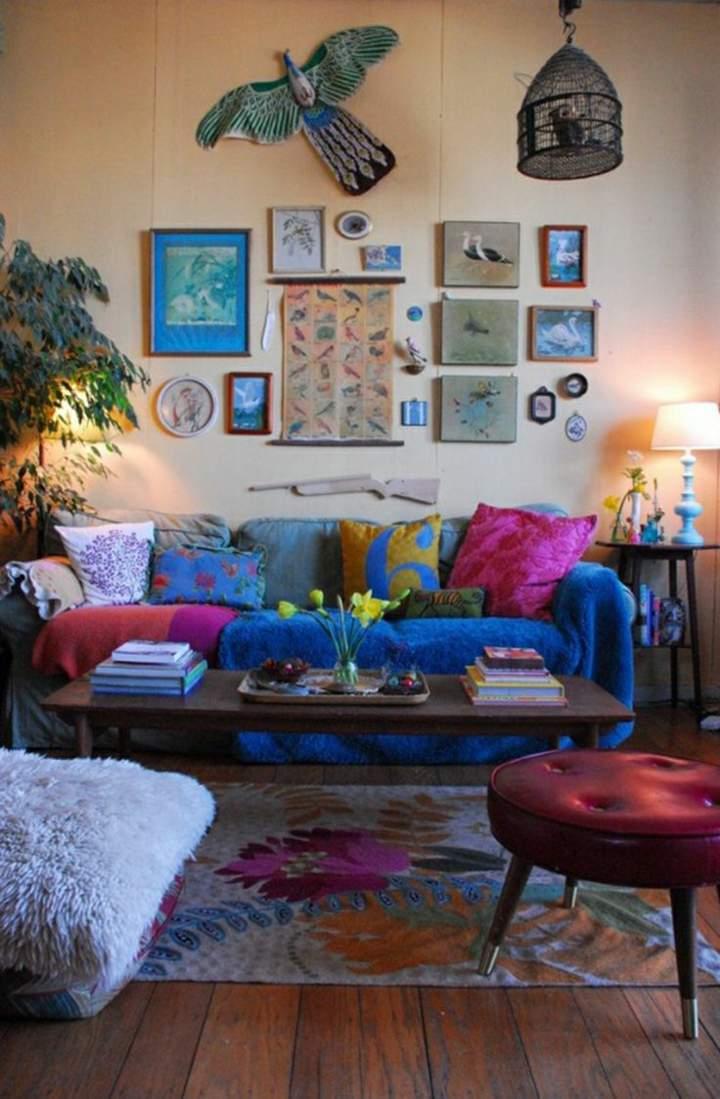 bohemio colores especiales conceptos pajaros