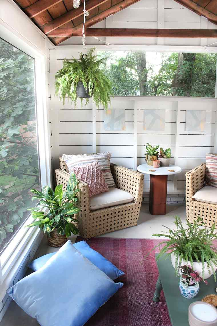boho estilo balcón