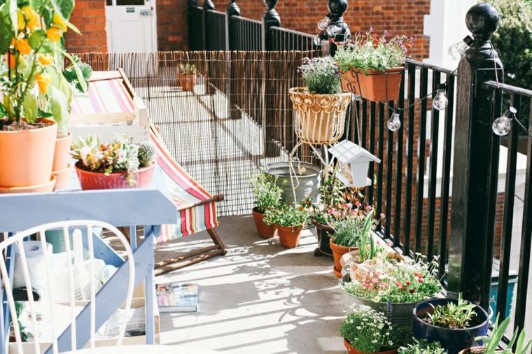 boho estilo decoración balcón